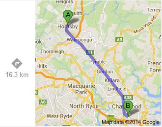 Hornsby-Artarmon (Google)