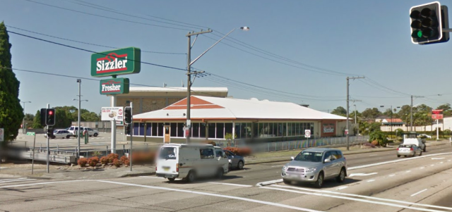 Sizzler, Kogarah NSW (Google Maps Street View)
