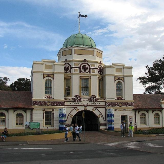 Taronga Zoo entrance, Bradleys Head Road, Mosman, Sydney NSW (Alex Dawson/Wikimedia Commons)